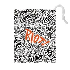 Paramore Is An American Rock Band Drawstring Pouches (extra Large) by Onesevenart