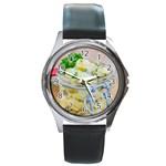 1 Kartoffelsalat Einmachglas 2 Round Metal Watch