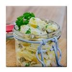 1 Kartoffelsalat Einmachglas 2 Tile Coasters