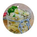 1 Kartoffelsalat Einmachglas 2 Round Ornament (Two Sides)