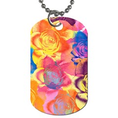 Pop Art Roses Dog Tag (one Side) by DanaeStudio