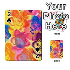 Pop Art Roses Playing Cards 54 Designs  by DanaeStudio