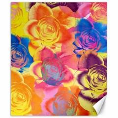 Pop Art Roses Canvas 20  X 24   by DanaeStudio