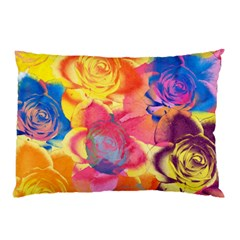 Pop Art Roses Pillow Case by DanaeStudio