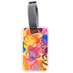 Pop Art Roses Luggage Tags (one Side)  by DanaeStudio