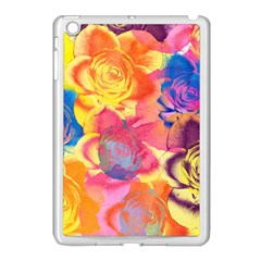 Pop Art Roses Apple Ipad Mini Case (white) by DanaeStudio