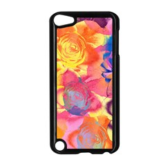 Pop Art Roses Apple Ipod Touch 5 Case (black) by DanaeStudio