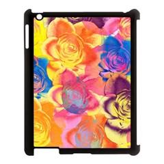 Pop Art Roses Apple Ipad 3/4 Case (black) by DanaeStudio