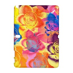 Pop Art Roses Samsung Galaxy Note 10 1 (p600) Hardshell Case by DanaeStudio