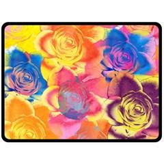 Pop Art Roses Double Sided Fleece Blanket (large)  by DanaeStudio