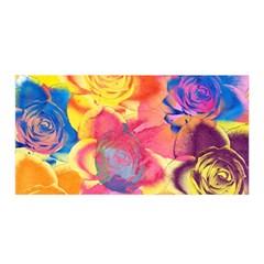 Pop Art Roses Satin Wrap by DanaeStudio