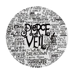 Pierce The Veil Music Band Group Fabric Art Cloth Poster Ornament (round)  by Onesevenart
