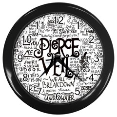 Pierce The Veil Music Band Group Fabric Art Cloth Poster Wall Clocks (black) by Onesevenart