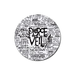 Pierce The Veil Music Band Group Fabric Art Cloth Poster Rubber Coaster (round)  by Onesevenart
