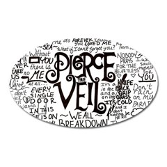 Pierce The Veil Music Band Group Fabric Art Cloth Poster Oval Magnet by Onesevenart