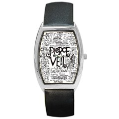 Pierce The Veil Music Band Group Fabric Art Cloth Poster Barrel Style Metal Watch by Onesevenart