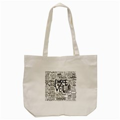 Pierce The Veil Music Band Group Fabric Art Cloth Poster Tote Bag (cream) by Onesevenart