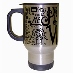 Pierce The Veil Music Band Group Fabric Art Cloth Poster Travel Mug (silver Gray) by Onesevenart
