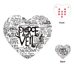 Pierce The Veil Music Band Group Fabric Art Cloth Poster Playing Cards (heart)  by Onesevenart