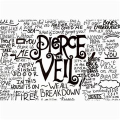 Pierce The Veil Music Band Group Fabric Art Cloth Poster Collage Prints by Onesevenart