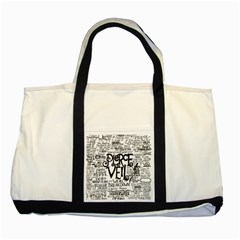 Pierce The Veil Music Band Group Fabric Art Cloth Poster Two Tone Tote Bag by Onesevenart