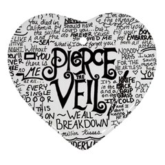 Pierce The Veil Music Band Group Fabric Art Cloth Poster Heart Ornament (2 Sides) by Onesevenart