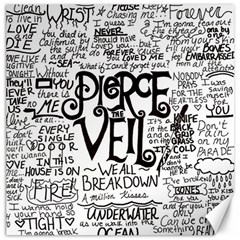 Pierce The Veil Music Band Group Fabric Art Cloth Poster Canvas 12  X 12   by Onesevenart