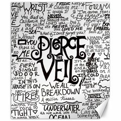 Pierce The Veil Music Band Group Fabric Art Cloth Poster Canvas 20  X 24   by Onesevenart