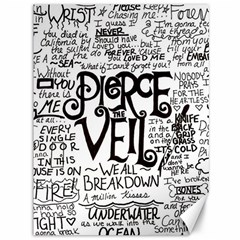 Pierce The Veil Music Band Group Fabric Art Cloth Poster Canvas 36  X 48   by Onesevenart
