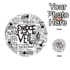 Pierce The Veil Music Band Group Fabric Art Cloth Poster Playing Cards 54 (round)  by Onesevenart