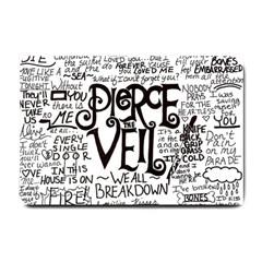 Pierce The Veil Music Band Group Fabric Art Cloth Poster Small Doormat  by Onesevenart