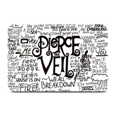 Pierce The Veil Music Band Group Fabric Art Cloth Poster Plate Mats by Onesevenart