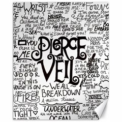 Pierce The Veil Music Band Group Fabric Art Cloth Poster Canvas 11  X 14   by Onesevenart
