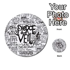 Pierce The Veil Music Band Group Fabric Art Cloth Poster Multi Purpose Cards (round)  by Onesevenart