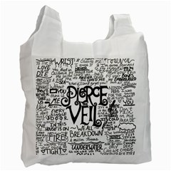 Pierce The Veil Music Band Group Fabric Art Cloth Poster Recycle Bag (one Side) by Onesevenart