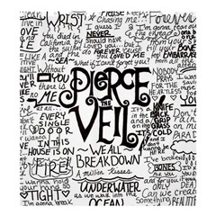 Pierce The Veil Music Band Group Fabric Art Cloth Poster Shower Curtain 66  X 72  (large)  by Onesevenart
