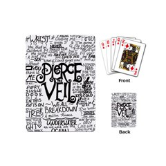 Pierce The Veil Music Band Group Fabric Art Cloth Poster Playing Cards (mini)  by Onesevenart