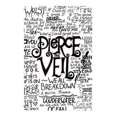 Pierce The Veil Music Band Group Fabric Art Cloth Poster Shower Curtain 48  X 72  (small)  by Onesevenart