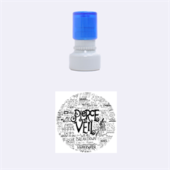 Pierce The Veil Music Band Group Fabric Art Cloth Poster Rubber Round Stamps (small) by Onesevenart