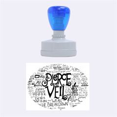 Pierce The Veil Music Band Group Fabric Art Cloth Poster Rubber Oval Stamps by Onesevenart