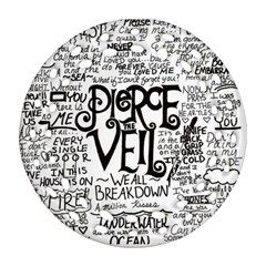 Pierce The Veil Music Band Group Fabric Art Cloth Poster Ornament (round Filigree)  by Onesevenart