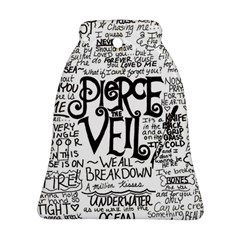 Pierce The Veil Music Band Group Fabric Art Cloth Poster Bell Ornament (2 Sides) by Onesevenart