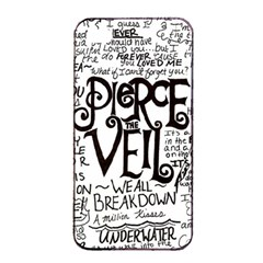 Pierce The Veil Music Band Group Fabric Art Cloth Poster Apple Iphone 4/4s Seamless Case (black) by Onesevenart