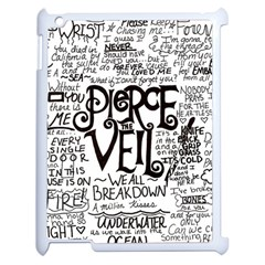 Pierce The Veil Music Band Group Fabric Art Cloth Poster Apple Ipad 2 Case (white) by Onesevenart