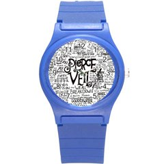 Pierce The Veil Music Band Group Fabric Art Cloth Poster Round Plastic Sport Watch (s) by Onesevenart