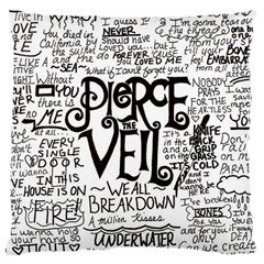 Pierce The Veil Music Band Group Fabric Art Cloth Poster Large Cushion Case (two Sides) by Onesevenart