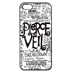 Pierce The Veil Music Band Group Fabric Art Cloth Poster Apple Iphone 5 Seamless Case (black) by Onesevenart