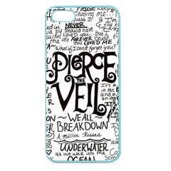 Pierce The Veil Music Band Group Fabric Art Cloth Poster Apple Seamless Iphone 5 Case (color) by Onesevenart