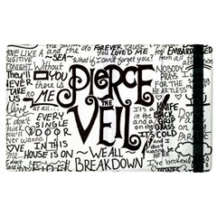 Pierce The Veil Music Band Group Fabric Art Cloth Poster Apple Ipad 3/4 Flip Case by Onesevenart