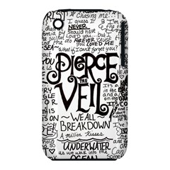 Pierce The Veil Music Band Group Fabric Art Cloth Poster Apple Iphone 3g/3gs Hardshell Case (pc+silicone) by Onesevenart